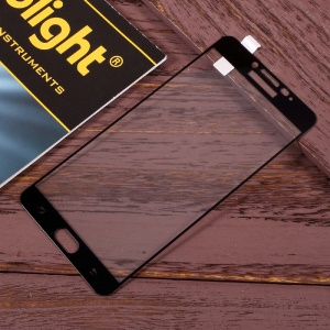 For Samsung Galaxy C9 Pro Full Coverage Mobile Tempered Glass Screen Protector - Black