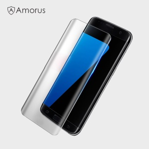 AMORUS für Samsung Galaxy S8 Komplette Abdeckung Silk Printing Tempered Glass Screen Film - Transparent