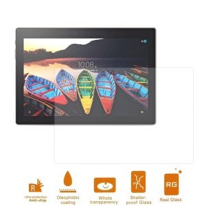 For Lenovo Tab 3 10 Plus Tablet LCD Tempered Glass Screen Protector Film 0.3mm (Arc Edge)