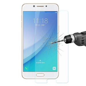 HAT PRINCE Tempered Glass Screen Protector for Samsung Galaxy C5 Pro 0.26mm 9H 2.5D Arc Edge