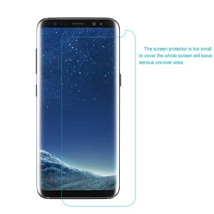 HD Clear LCD Mobile Screen Guard Film para Samsung Galaxy S8 G950 (pacote preto)