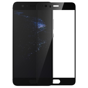 BASEUS for Huawei P10 Plus Silk Print Full Screen Tempered Glass Protector Film 0.3mm - Black