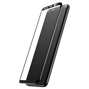 BASEUS 3D Curved Silk Print Full Cover Tempered Glass Screen Protector for Samsung Galaxy S8 G950 - Black