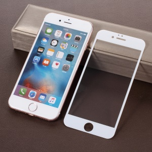 4D Full Coverage Tempered Glass Screen Film Cover for iPhone 6S Plus / 6 Plus 5.5 inch - White