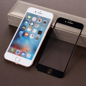4D Full Size Tempered Glass Screen Guard Film para iPhone 6s / 6 4.7 polegadas - Preto