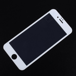 For iPhone 6s Plus/6 Plus Carbon Fiber Arc Edge Anti-blue-ray Full Coverage Tempered Glass Screen Protector - White