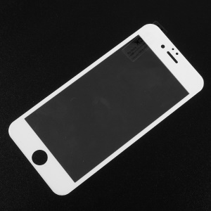Carbon Fiber Edge Full Coverage Tempered Glass Shield Film for iPhone 6s / 6 - White