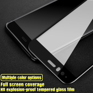 IMAK HD Full Coverage Tempered Glass Screen Protector for Huawei P10 - Black