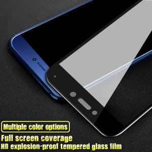 IMAK HD Full Coverage Tempered Glass Screen Protector for Huawei P8 Lite (2017) / Honor 8 Lite - Black
