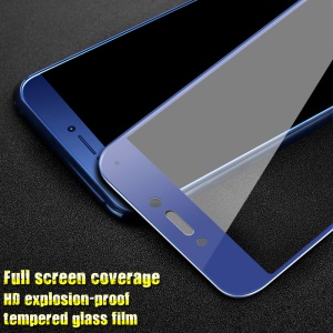 IMAK HD Full Coverage Tempered Glass Screen Protector Guard Film for Huawei P8 Lite (2017) / Honor 8 Lite - Blue