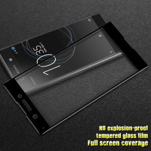 IMAK HD Full Size Tempered Glass Display Schutz für Sony Xperia XA1 - Schwarz
