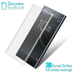 2Pcs IMAK Explosion-proof 3D Curved Full Coverage Soft Screen Protector Film for Sony Xperia XZ Premium