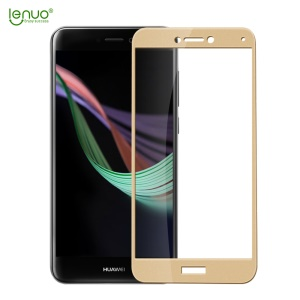 LENUO CF Soft Edge Full Screen Tempered Glass Protector Film for Huawei P8 Lite (2017) / Honor 8 Lite - Gold
