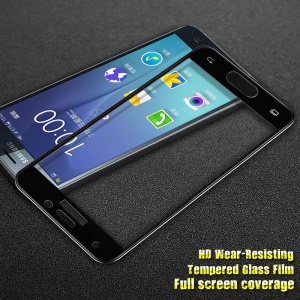 IMAK HD Full Tempered Glass Screen Protector for Samsung Galaxy J3 Emerge - Black
