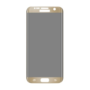 ANGIBABE Anti-peep Full Size 0.3mm 3D Curved Tempered Glass Protector for Samsung Galaxy S7 Edge G9350 5.5 Inch Silk Prite - Gold