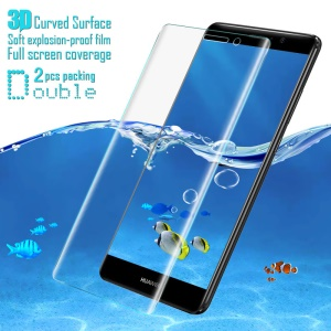2Pcs IMAK Explosion-proof Soft 3D Curved Full Coverage Screen Protector Film for Huawei Mate 9