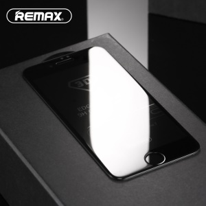 REMAX 0.3mm Anti-spy Privacy Tempered Glass Screen Shield Film for iPhone 7 Plus 5.5 inch - Black
