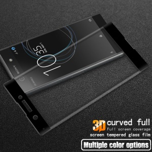 IMAK 3D Curved Full Coverage Tempered Glass Screen Guard for Sony Xperia XA1 - Black