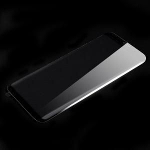 Curved Full Covering Tempered Glass Screen Protector for Samsung Galaxy S8+ SM-G955 - Black