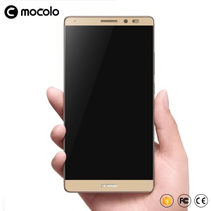 MOCOLO Silk Print Arc Edge Full Coverage Tempered Glass Screen Film for Huawei Mate 9 - Gold