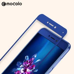 MOCOLO Silk Print 2.5D Curved Edge Complete Coverage Tempered Glass Screen Protector for Huawei P9 Lite (2017) / P8 Lite (2017) / Honor 8 Lite - Blue