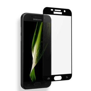 MOCOLO Silk Print Full Coverage Tempered Glass Screen Protector for Samsung Galaxy A5 (2017) SM-A520 - Black