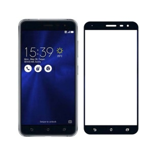 MOCOLO Silk Print Full Coverage Tempered Glass Screen Protector for Asus Zenfone 3 ZE552KL - Black