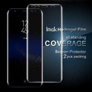 IMAK 2 Pcs Packing Full Screen Complete Covering Soft Hydrogel Protector Film for Samsung Galaxy S8 SM-G950