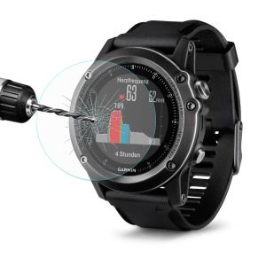 HAT PRINCE for Garmin Fenix 3 HR Tempered Glass Screen Protector Guard Film 0.2mm 9H 2.15D Arc Edge