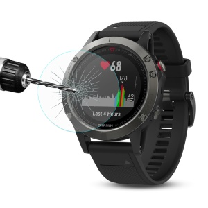 HAT PRINCE for Garmin Fenix 5 Tempered Glass Screen Protector 0.2mm 9H 2.15D Arc Edge