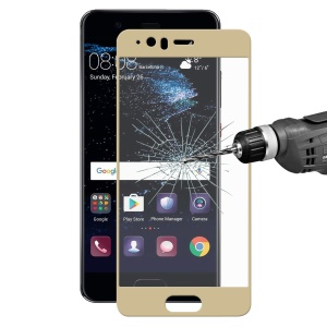 HAT PRINCE Tempered Glass Screen Protective Film for Huawei P10 0.26mm 9H 2.5D Arc Edge - Gold