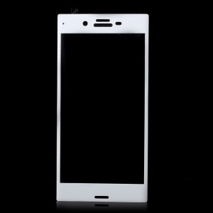 Full Size Arc Edge Tempered Glass Screen Protector for Sony Xperia XZ / XZs - White