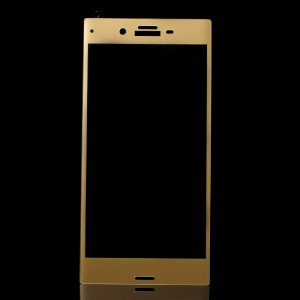 Complete Coverage Arc Edge Tempered Glass Screen Protector for Sony Xperia XZ / XZs - Gold