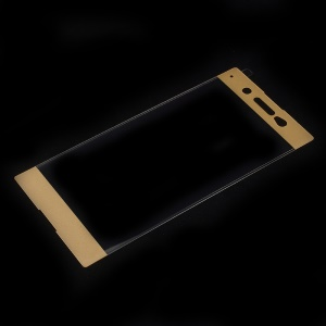 Full Size Tempered Glass Screen Protector for Sony Xperia XA1 Ultra - Gold