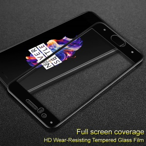 IMAK Full Size Tempered Glass Protector Film for OnePlus 5
