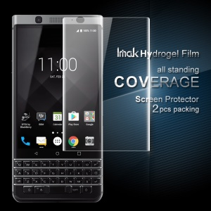 IMAK 2Pcs Packing Full Screen Complete Covering Soft Hydrogel Protector Film for BlackBerryKeyone