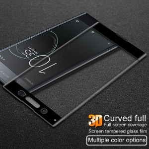 IMAK 3D Curved Full Size Tempered Glass Protector Film para Sony Xperia XA1 Ultra - negro