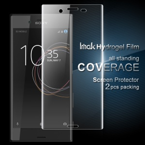 IMAK 2Pcs Full Screen Complete Covering Soft Hydrogel Protector Film for Sony Xperia XZs / XZ