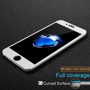 IMAK 3D Curved Full Coverage Tempered Glass Protector Film for iPhone 7 Plus - White