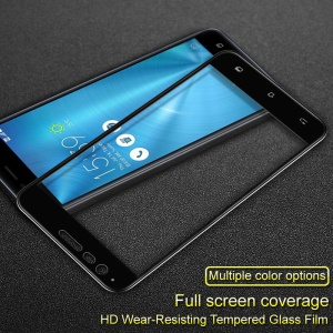 IMAK Full Size Tempered Glass Screen Protector Film for Asus Zenfone 3 Zoom ZE553KL - Black