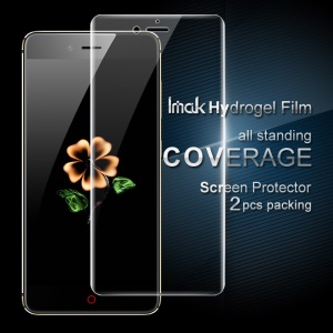 IMAK 2Pcs Packing Full Screen Complete Covering Soft Hydrogel Protector Film for ZTE Nubia Z11 Mini S