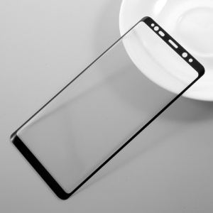 Full Size Tempered Glass Screen Protector Film for Samsung Galaxy Note 8 - Black