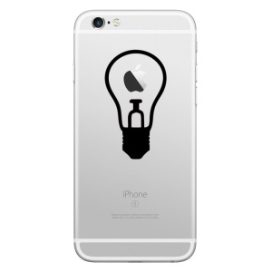 HAT PRINCE Removable Decal Sticker for iPhone 6s Plus/6s/5s/5 (Small Size) - Bulb