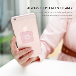 BASEUS Washable Fiber Screen Cleaning Wipes for iPhone iPad Samsung Etc. - Pink