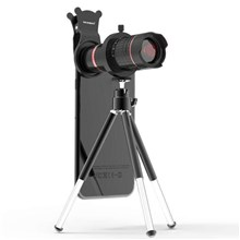 PICKOGEN 14X 4K Telephoto Lens with Mini Tripod for iPhone Samsung Huawei etc Smartphones - Red