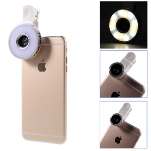 Universal LED Light Flash Lamp + Fisheye Lens + Wide Macro Lens for iPhone Samsung Sony Etc