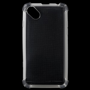 Clear Glossy Impact-resisting TPU Phone Cover for Blu Advance 4.0 L - Transparent