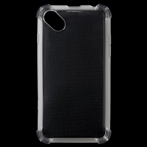 Glossy Shockproof Clear TPU Back Protector Case for Blu Advance 4.0 L2 - Transparent