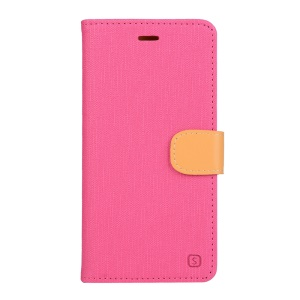 Wallet Leather Stand Cover Case for Vodafone Smart ultra 6 - Rose