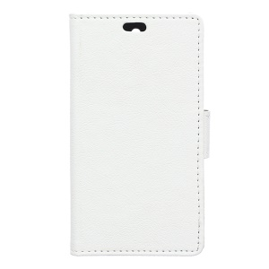 Wallet Leather Stand Cover for Vodafone Smart first 7 - White